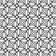 Monochrome repeating ellipse pattern Stock Illustration
