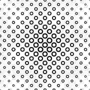 Repeating black white ring pattern Stock Illustration