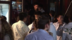 Young Chinese drinking, night life, China Stock Footage