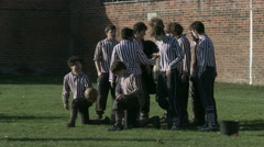Eton Wall Game St Andrews Day 2015. End of match Collegers photo Stock Footage