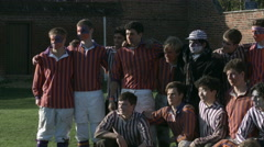 Eton Wall Game St Andrews Day 2015. Both teams photo Stock Footage