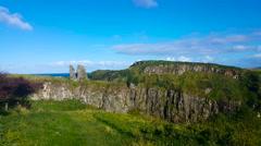 Irish Cliffside Ruins Stock Footage