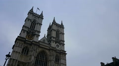 Westminster Abbey Towers Stock Footage
