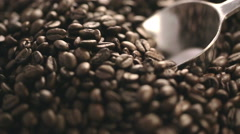 Scooping Whole Coffee Beans Stock Footage