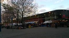 Stock Video Footage of The Bull Ring Rag Market Birmingham Uk