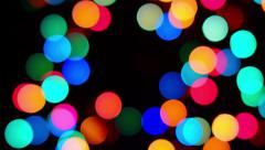 Colorful rounds defocused lights Stock Footage