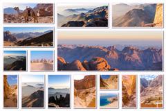 Egypt Sinai collage - stock photo