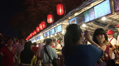 Night market, food, lanterns, China - stock footage