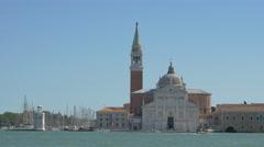 View of Chiesa di San Giorgio Maggiore and its surroundings in Venice Stock Footage