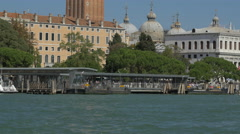 The beautiful St Mark's Campanile seen on a beautiful sunny day in Venice Stock Footage