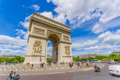 Stock Photo of Beautiful summer view of Champs Elysees and Arc de Triomphe, Paris, France