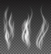White smoke set on translucent background Stock Illustration