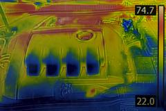 Stock Photo of Car Engine Thermal Image