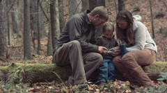 Family Playing On Smart Phone Stock Footage