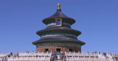 4K - Beijing, Circa October 2015: Temple of Heaven Stock Footage
