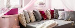 Cozy and decorative nook - stock photo