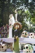 Traditional offering to the dead in mexico Stock Photos