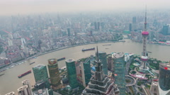 Tower 470 meter the Oriental Pearl is one of Shanghai's tallest buildings - stock footage