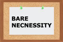 Bare Necessity concept Stock Illustration