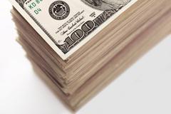 Crop of dollar banknotes Stock Photos
