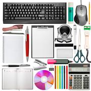 Set of office stationery - stock photo