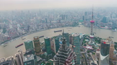 Tower 470 meter the Oriental Pearl is one of Shanghai's tallest buildings - stock footage
