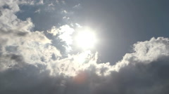 Clouds obscured the sun before the storm - stock footage