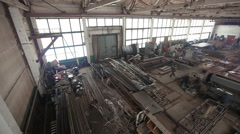 Metallurgical production. Factory with many machines Stock Footage
