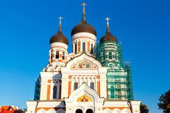 Tallinn. Alexander Nevsky Church Stock Photos