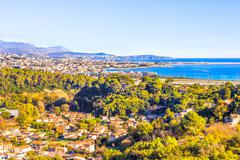 Aerial view of Nice, Cote d'Azur Stock Photos