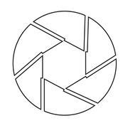 Aperture icon - stock illustration