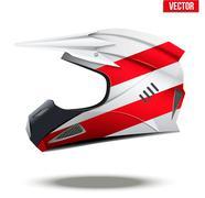 Austria Flag on Motorcycle Helmets Stock Illustration
