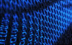Technology binary background. Concept - binary, technology, code, net, digita - stock illustration