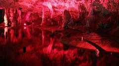 Punkva Cave in the Moravsky Kras, Moravian Karst - stock photo