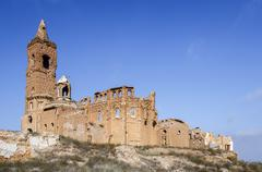 Belchite village destroyed in a bombing during the Spanish Civil War Kuvituskuvat