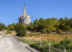 Sanctuary of Montserrat in Montferri, Tarragona, Catalonia. Stock Photos