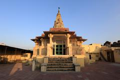 Pink City, old temple, Jaipur - stock photo