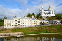 Holy Dormition Cathedral on Uspenskaya mountain in Vitebsk, Belarus - stock photo