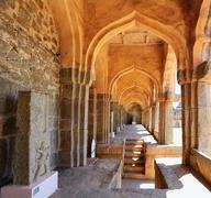 Elephant stables, Hampi, Karnataka, India (UNESCO World Heritage Site, listed - stock photo