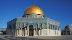 Street scene on Temple Mount in Jerusalem, Israel Stock Footage