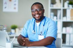 Clinician at workplace Stock Photos