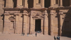Stock Video Footage of The monastery in world wonder Petra in Jordan