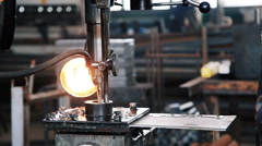 Drilling machine. Metallurgical production Stock Footage