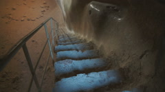 The Great Cistern in Masada, Israel, Middle East, Asia Stock Footage