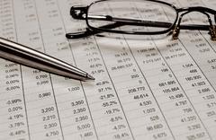 Financial Analyzing Balancing The Accounts Stock Photos