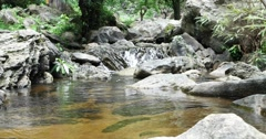Small Waterfall in Park Stock Footage