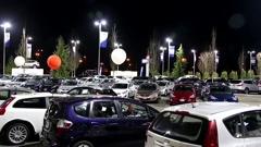 Hyundai car dealership Stock Footage