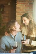 Dating in a cafe Stock Photos