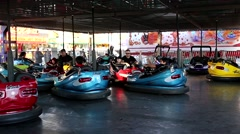 Stock Video Footage of People taking bumper car at the West Coast Amusements Carnival