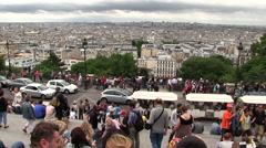 View from the Sacre-Cur de Montmartre Paris in France - Europe Stock Footage